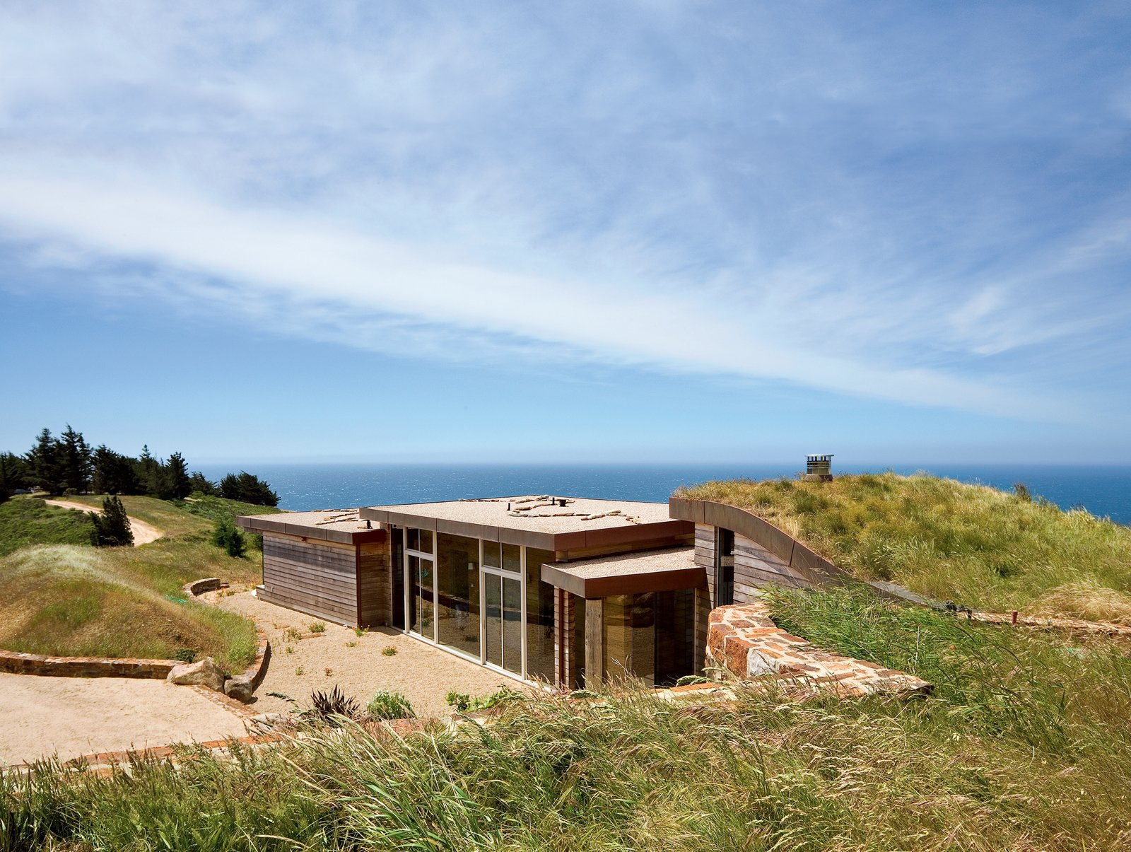 Architect Mary Ann Schicketanz created a 1,900-square-foot home in Big Sur, California, that hugs its hillside site. Big Sur: Going Coastal - Photo 1 of 6