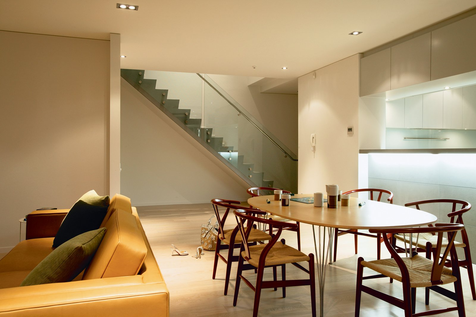 Tagged: Dining Room, Recessed Lighting, Chair, Table, and Light Hardwood Floor.  Photo 8 of 8 in Density Down Under