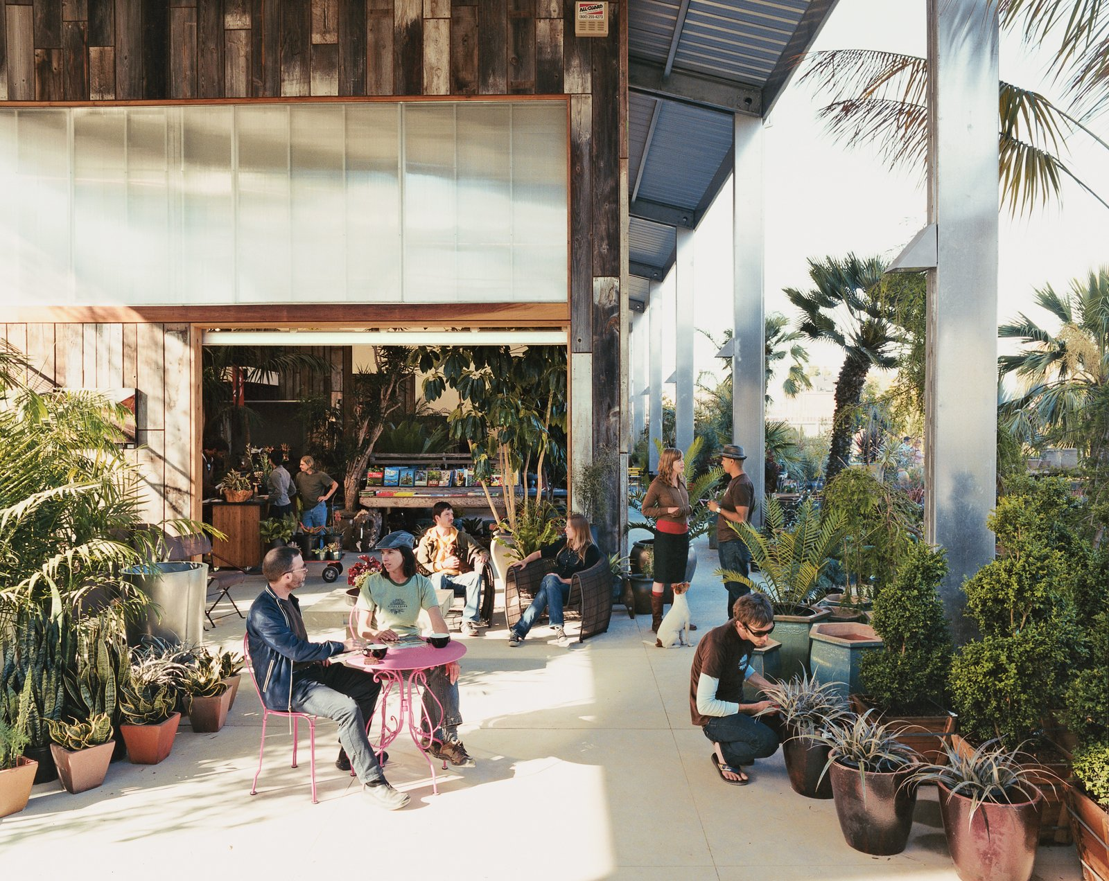 The new location of Flora Grubb Gardens, in Bayview, boasts 8,000 square feet of foliage. Architects Seth Boor and Bonnie Bridges, of Boor Bridges Architecture, created the barn-like structure.