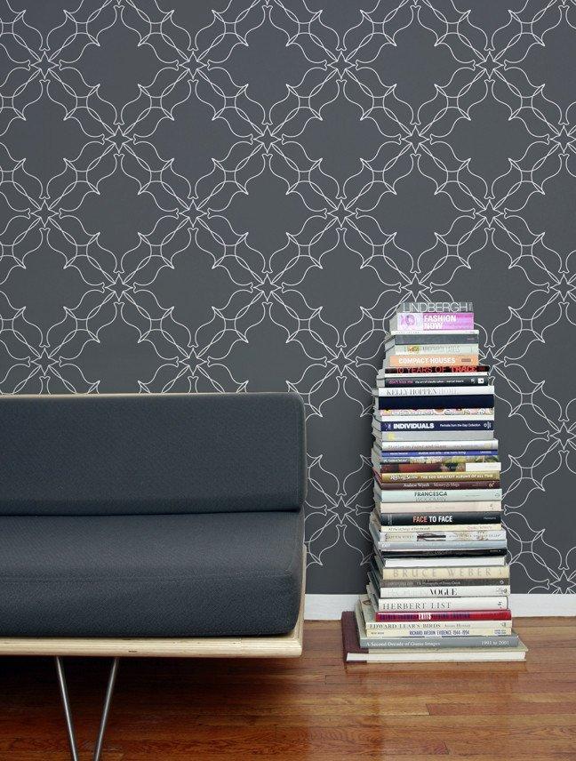 Aimee Wilder Loops wallpaper pattern.  Photo 14 of 42 in Wallpaper That Fixes Walls