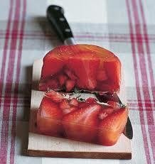 Strawberry and Fresh Mint Terrine
