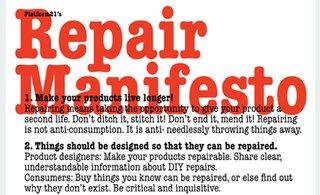 Platform 21's Repair Manifesto - Photo 1 of 2 -