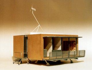 A model of the Aero House, by architect Tadashi Murai.