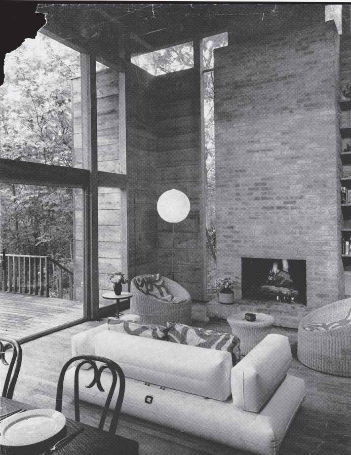 The living room, before renovation.