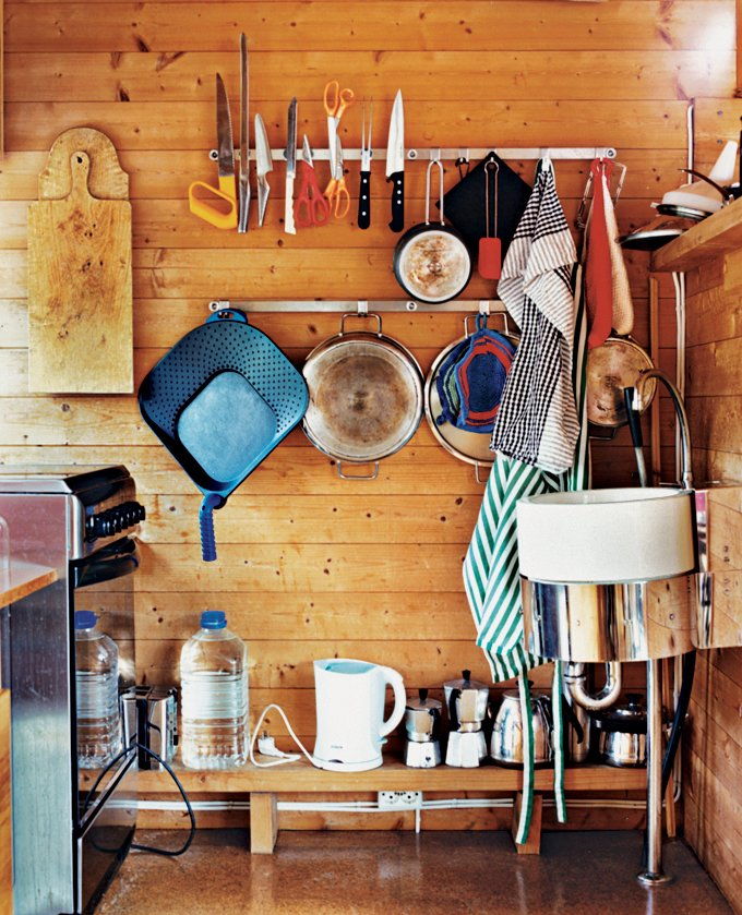 Magnets and hooks keep kitchen necessities within reach. Tagged: Kitchen.  Photo 7 of 9 in Norwegian Wood