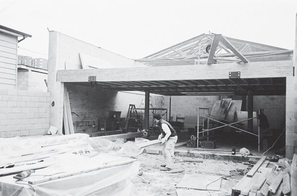 A 2002 photograph of the courtyard in progress.