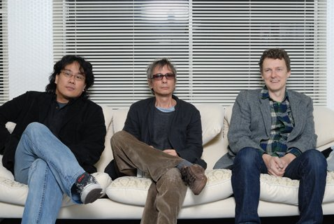 The three directors of Tokyo!: Bong Joon-Ho, Leos Carax and Michel Gondry.