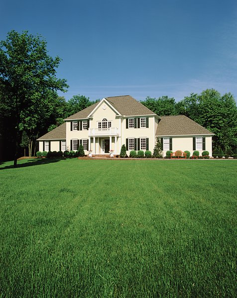 Homes that maintain full, lush lawns in unsuitable climates not only become disharmonious eyesores, they also soak up dwindling water supplies.