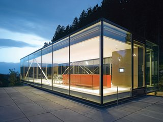 Werner Sobek - Photo 5 of 22 - Sobek's extensive use of glass cladding for his projects effectively blends interior and exterior space, while providing plenty of natural light.