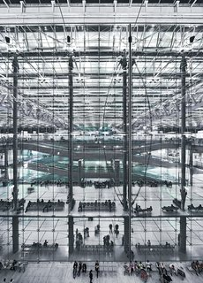 Werner Sobek - Photo 14 of 22 - For the Suvarnabhumi International Airport in Bangkok, designed by Murphy/Jahn Architects, Sobek created a patented membrane that allows natural light in but keeps heat and noise out.