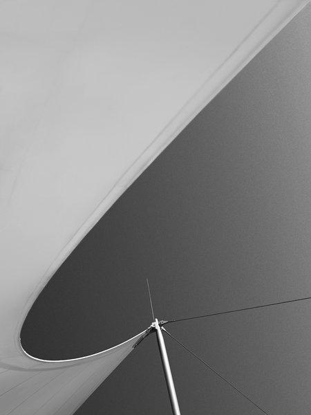The membrane Sobek designed for Pope Benedict XVI's visit to Germany in 2006.