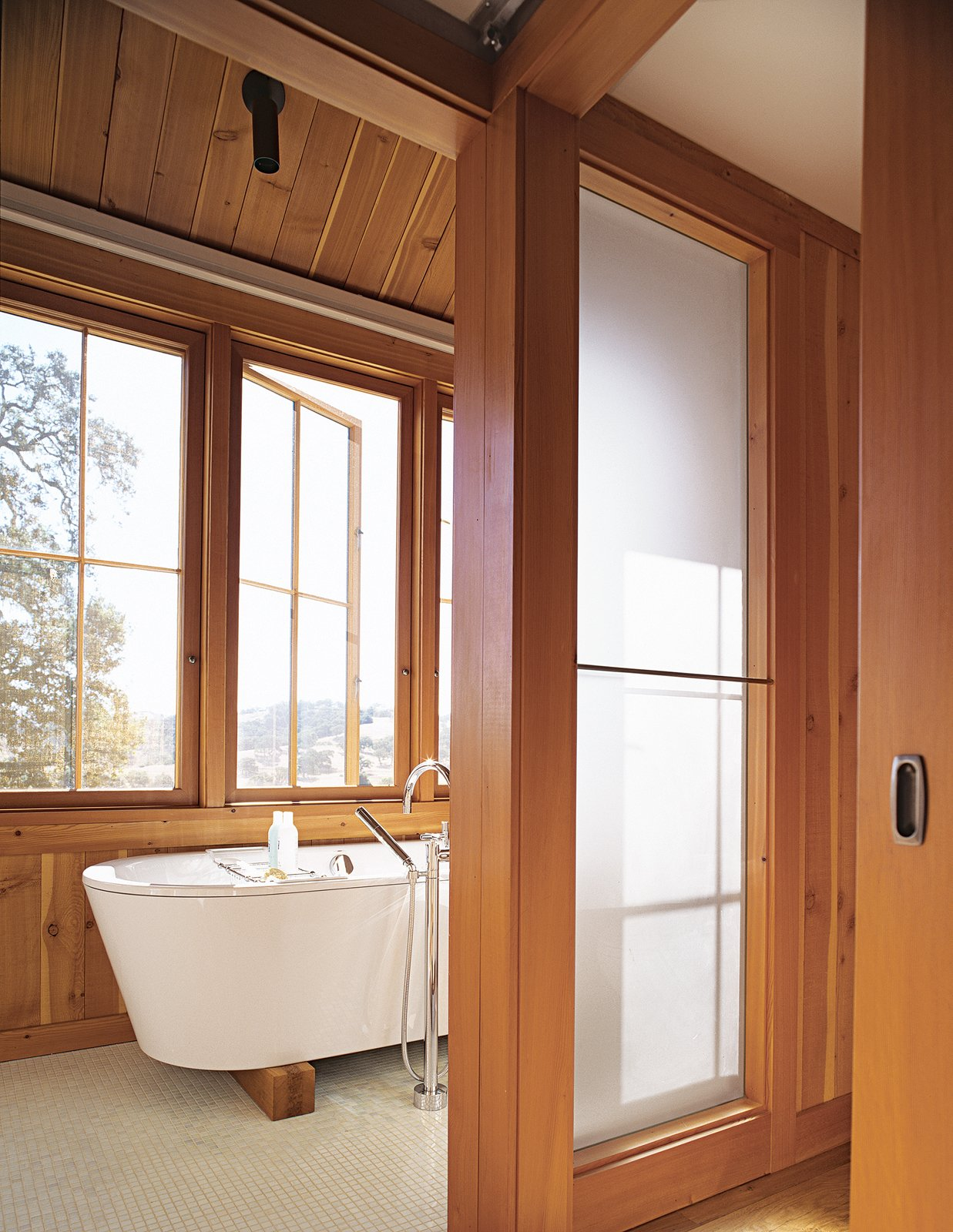 The master bath commands one of the best views in the house.
