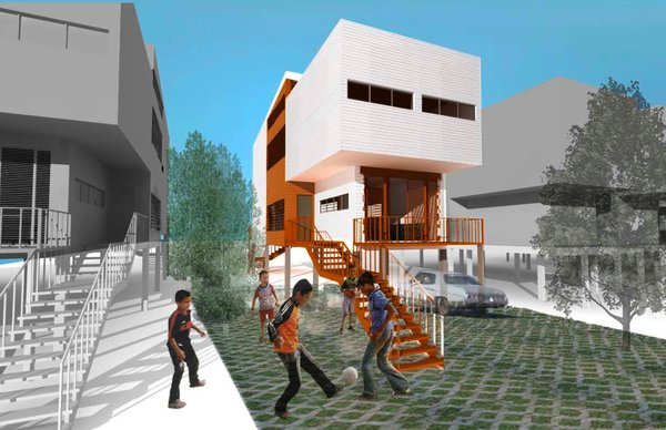 The Kitchen Blender (exterior) by Claudia Barra de Vincenzo and Tracy Sun of McGill University