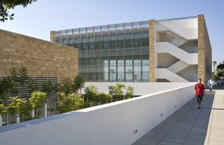 Charles Hostler Student Center (exterior view) in Beirut, Lebanon, by Vincent James Associates Architects. Photo by Paul Crosby.