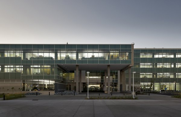 Great River Energy Headquarters (exterior view) in Maple Grove, Minnesota, by Perkins + Will. Photo by Lucie Marusin.