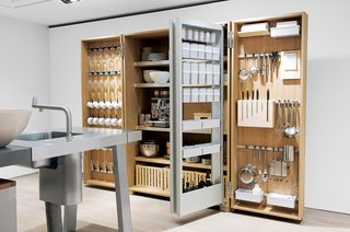 Bulthaup's B2 Kitchen System - Photo 2 of 2 - The Tool Cabinet of the b2 system contains everything you would ever need to cook and serve your food.