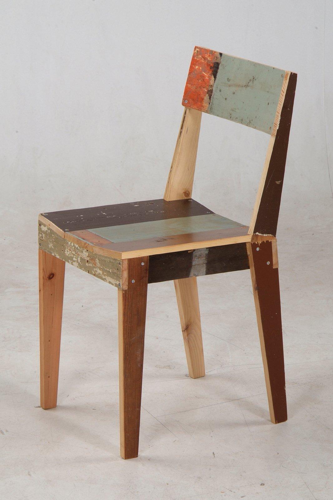 Oak Chair in scrapwood  Photo 7 of 10 in Favorite Chairs from Piet Hein Eek