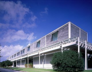 The Menil Collection building by acclaimed architect Renzo Piano. Visit the Menil Collection online at menil.org. Image courtesy of the Greater Houston Convention and Visitors Bureau.