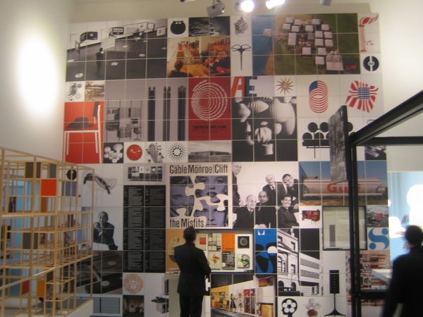This wall of George Nelson's graphic design, photos, books and exhibition work was one of the most impressive elements of the show.