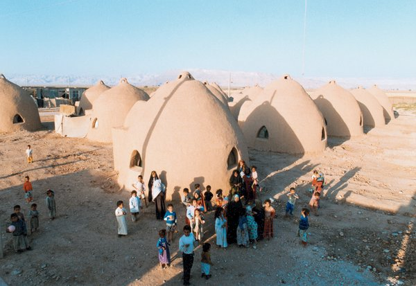 """Nader Khalili's lunar-inspired """"superadobe"""" homes are suitable virtually anywhere on earth. In emergency situations, they can be erected in a matter of days."""