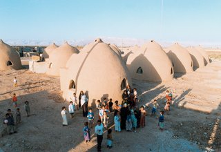 "Castles Made of Sand - Photo 1 of 4 - Nader Khalili's lunar-inspired ""superadobe"" homes are suitable virtually anywhere on earth. In emergency situations, they can be erected in a matter of days."