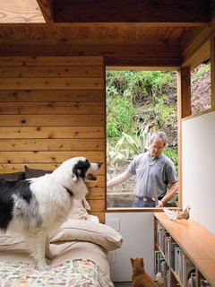 25 Dogs Living in the Modern World - Photo 21 of 25 - In the master bedroom, a removable window provides egress, as required by code.