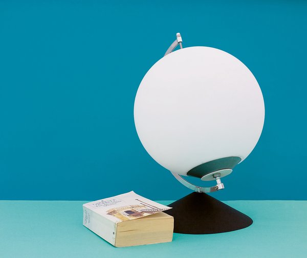 "The Dynamic Lamp (stationary) by Karin Johansson<br><br>""My Dynamic Lamp is a part of the wireless society,"" Johansson writes about her design. ""It doesn't need any power supply or batteries; it just works with your own energy. It is based on the idea of producing your energy where you are, instead of transporting it in all directions across the earth. The sole by-product is exercise.""<br><br>Photo by Andreas Nyquist"
