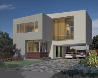 Hometta: Affordable Modern Home Plans - Photo 4 of 4 - Binary House. Photo courtesy of Collaborative Designworks.