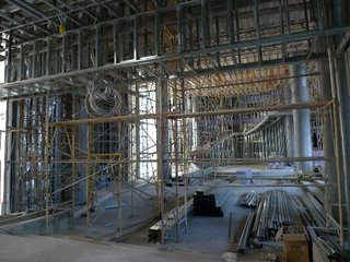 The W Hollywood Residences - Photo 2 of 10 - The hotel lobby as entered through the motor court, with a circular staircase at far end.