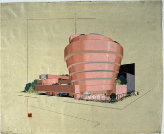 FLW: From Within Outward - Photo 4 of 4 - I loved this early sketch for the Guggenheim Museum in New York. Imagine if it were pink!