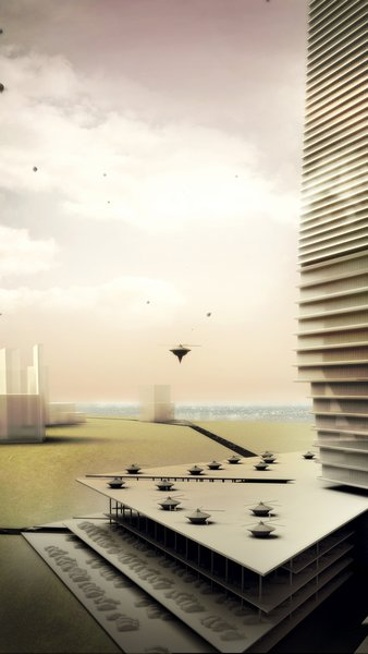 "Wright's Mile High Office Tower, dubbed ""The Illinois"" was never realized. He hoped to capture all the life of a city in a single tower, turning it into a purely vertical experience. The animation is by Harvard Graduate School of Design professor Allen Sayegh with Justin Chen and John Pugh."