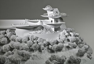 FLW: From Within Outward - Photo 3 of 4 - This model of Wright's never-built Huntington Hartford Sports Club/Play Resort was made by Situ Studio in Brooklyn. It was to be built in Los Angeles as a pleasure center for the wealthy.