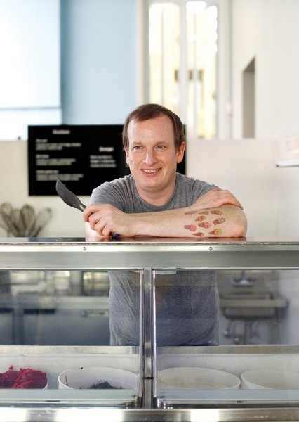"It's rare to find a friction-free workplace, but Jake Godby can proudly claim he has one. ""The thing about an ice-cream shop,"" he says, ""is that nobody comes inwith a bad attitude."" A former pastry chef, Godby owns Humphry Slocombe, a new dessert stop in San Francisco. Already a cult favorite for its signature flavor, Secret Breakfast (bourbon ice cream with cornflakes), the shop is likely to become a niche legend much like the 1970s British farce Are You Being Served?, from which it takes its name."