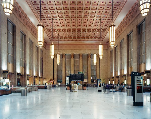 Showing off a combination of Beaux-Arts and Art Deco styles, the 30th Street Station was designed in 1933.