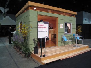 Exhibition Snapshot: Dwell Outdoor - Photo 1 of 4 - Modern Shed, based in Seattle, set up their popular 10-foot-by-twelve-foot Studio Shed on the exhibition floor.