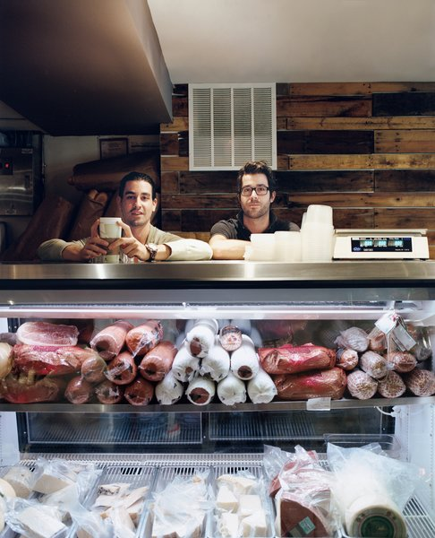 Casey Patten and David Mazza are most frequently found behind the counter of their Washington, DC, deli, Taylor Gourmet. When the friends and business partners aren't slaving over chicken cutlets or slicing prosciutto, they take in the urban views from their respective apartments above the restaurant.