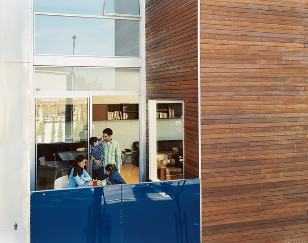 "The Mariscal family enjoys the first-floor patio, which Sebastian calls their ""exterior room."""