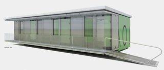 The panels of a typical 650 square foot CPR are fabricated from light-weight honeycomb composite resin and are dismantled to fit into six high-impact pods for efficient transport.