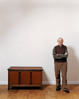 Remaking the Past: Simon Watts - Photo 1 of 1 - Simon Watts stands next to a mahogany-and-walnut chest—just one of many pieces he has rebuilt to replace all of the furniture that was mysteriously taken from his home last year.
