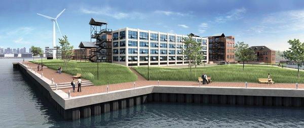 Forbes Park will be a pedestrian preferred site, with cars directed immediately into an underground parking facility beneath Building X. A footbridge leads from the building to an eco-trail, whose main feature is a cluster of five Civil War–era pin-oak trees that were spared during the construction process.