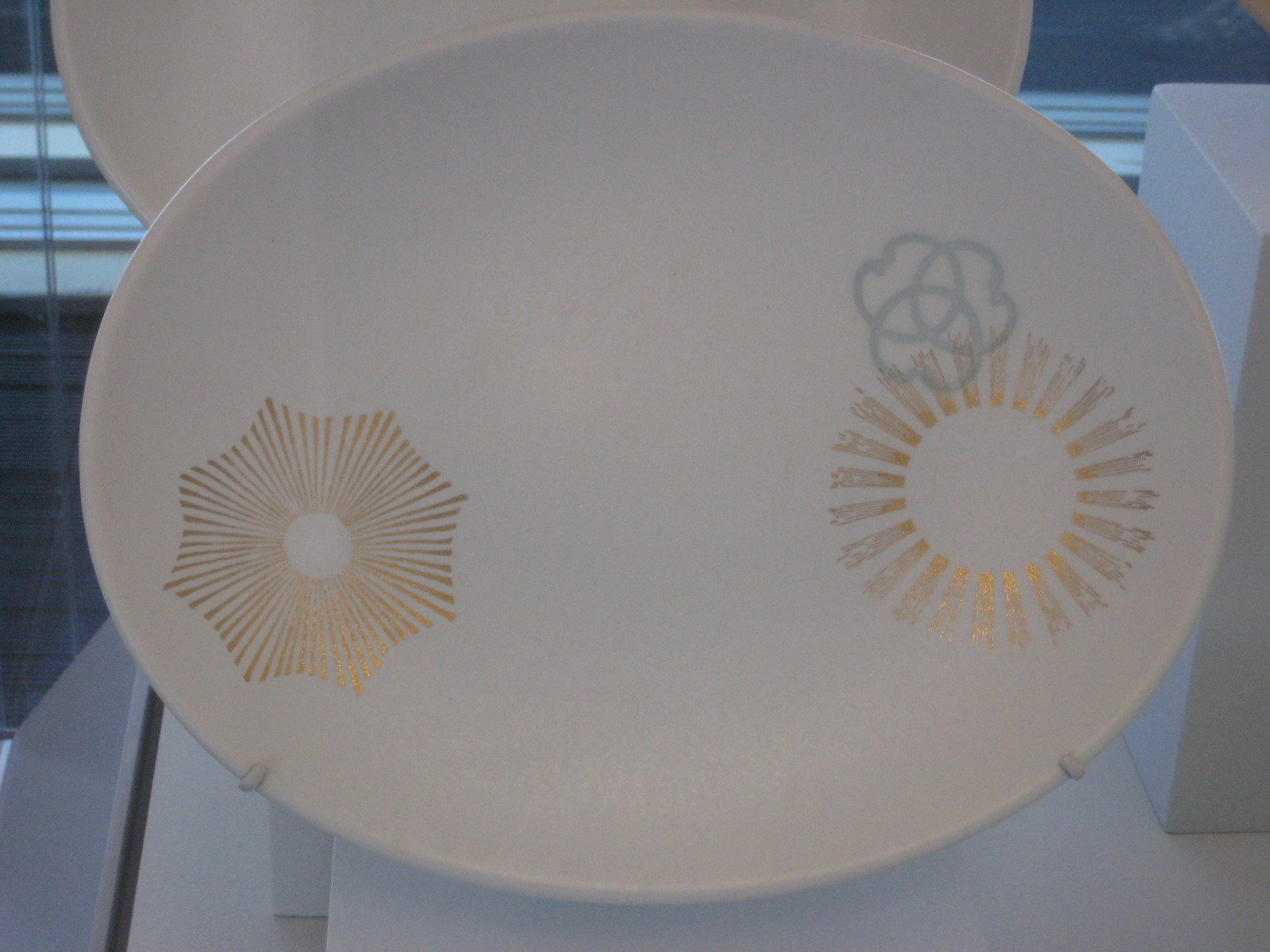 Asian-inspired gold-leaf platters.  Photo 11 of 12 in Wright at Home: 1930-1965