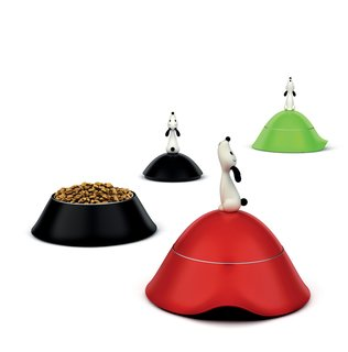Lulá dog bowl with lid, by Miriam Mirri for A Di Alessi.<br><br>Little pups need as much love as their bigger pals, but not the same amount of food. These bowls were designed with the smaller pooch in mind, with a lid to keep everything fresh.
