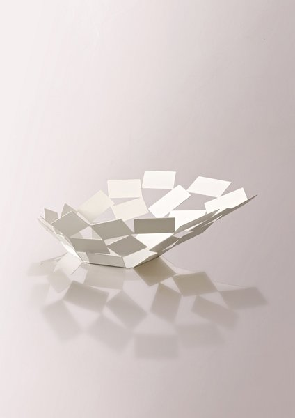 La Stanza dello Scriocco bowl, by Mario Trimarchi for Alessi.<br><br>Capturing the fluid movement of cards caught in a gust of wind, this is a really lovely collection.