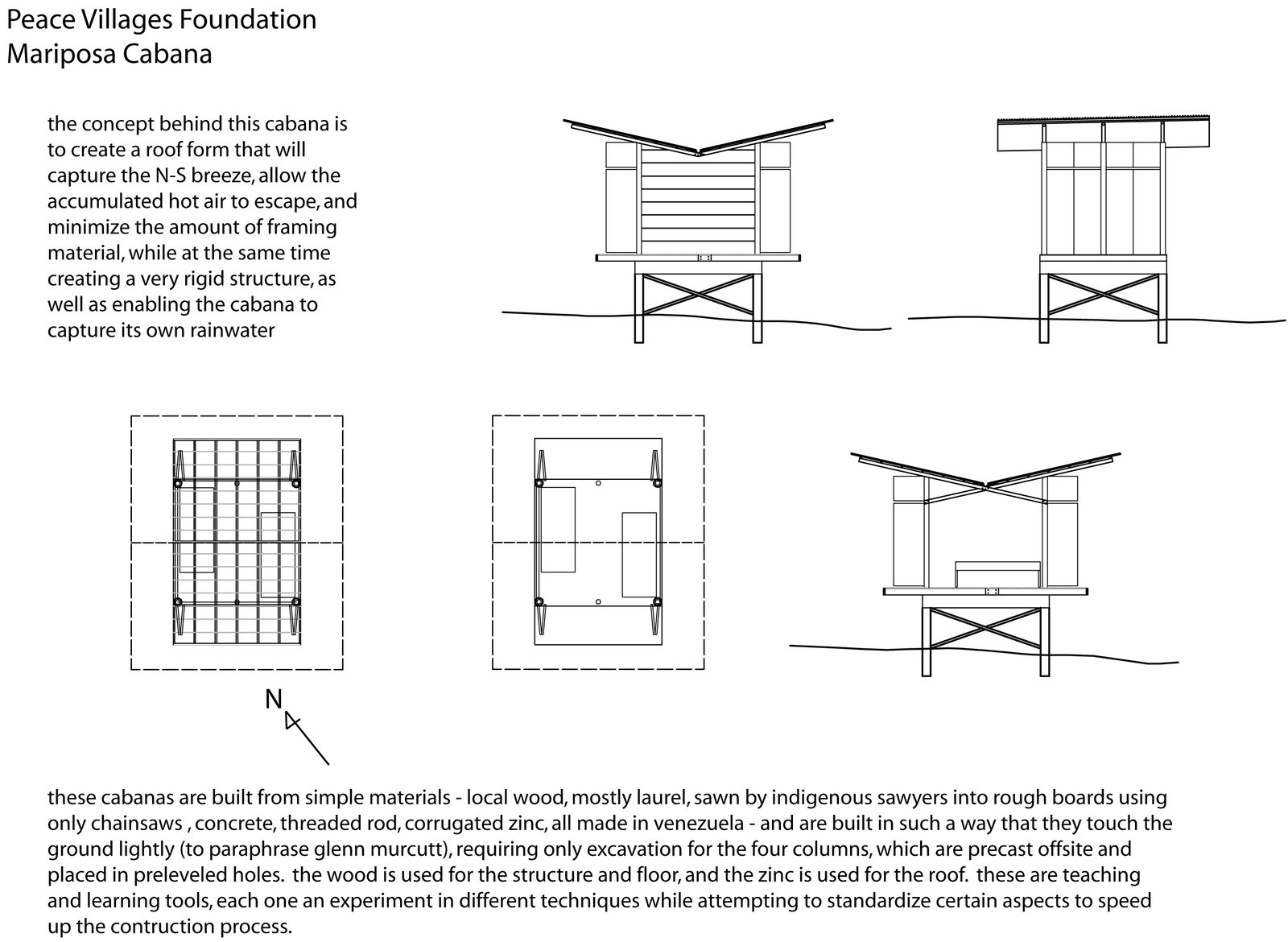 Nonn and Martin designed models that were simple and straightforward, with passive strategies for ventilation and cooling. These drawings can be used to build more shelters in the architects' absence. Venezuela's Eco Cabanas - Photo 6 of 13