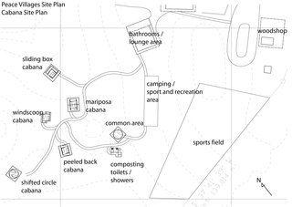 Venezuela's Eco Cabanas - Photo 11 of 13 - A site plan for the Peace Villages shows the placement of the cabanas and various other amenities and community areas.