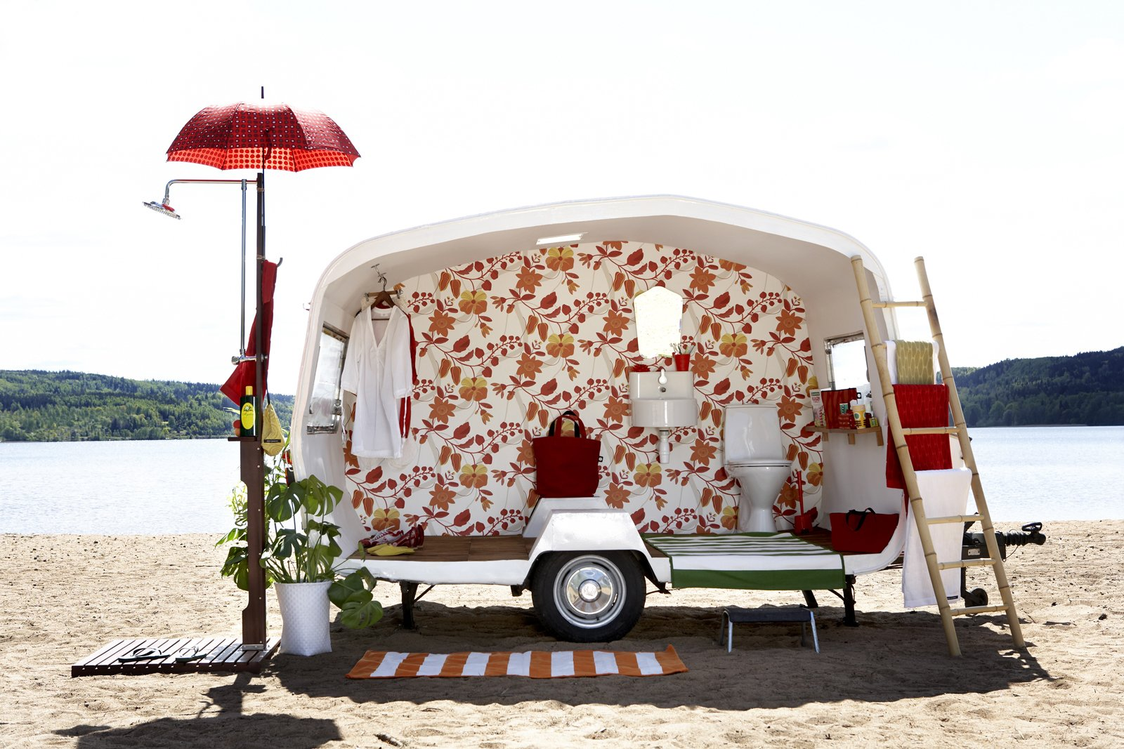 Tagged: Exterior and Camper Building Type.  DecorMaison Wallpaper by Sarah Rich