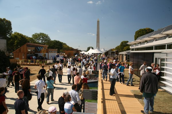 Next fall, the Solar Decathlon will again take the stage on the National Mall in Washington, D.C. Pictured here is the 2007 event photographed by Kaye Evans-Lutterodt.