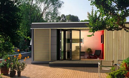 Pod space prefab garden sheds dwell for Prefab garden buildings