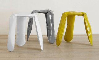 Live from London: Brompton District - Photo 1 of 4 - Oskar Zieta's Plopp stool inspired Miska Miller-Lovegrove to curate the Young Creative Poland show.
