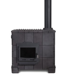 Live from London: Brompton District - Photo 2 of 4 - Dick Van Hoff's Tile Stove for Royal Tichelaar Makkum, currently on display at Gallery Libby Sellers.